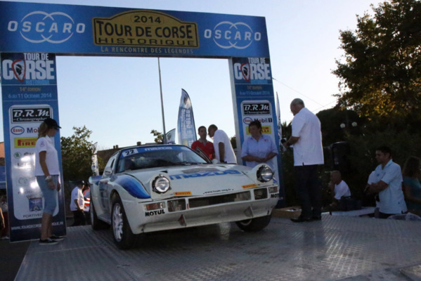 Tour de Corse : our 4 cars at the finish!