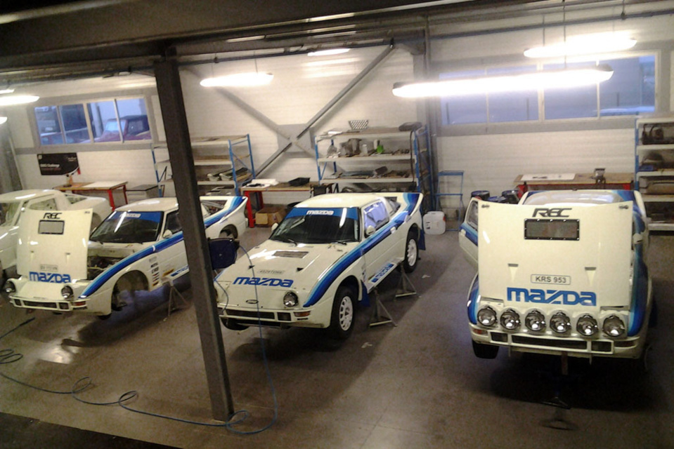 Four Mazda's at the Historical Rally of Morocco